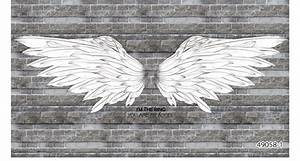 Aliexpress.com : Buy Black and white angel wings brick ...