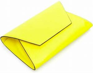 Yellow Handbags Zara Neon Yellow Clutch Bag