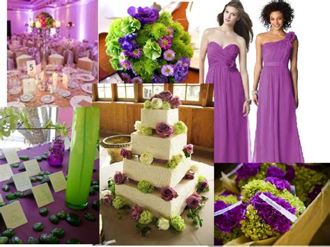 wedding theme purple and green lime green and purple wedding decorations