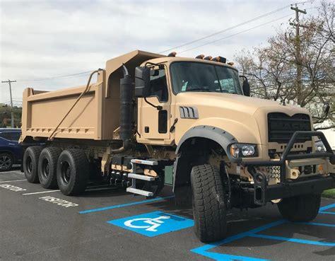 volvo group shows mack granite based ma dump truck
