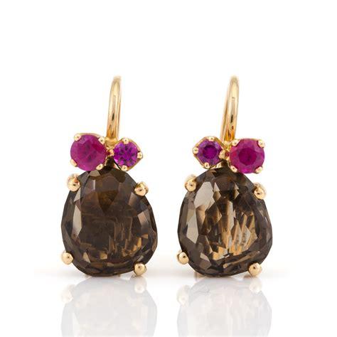 pomellato bahia a pair of bahia earrings by pomellato set with mixed cut