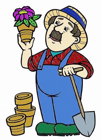 Clip Clipart Garden Gardener Tools Farmer Gardening