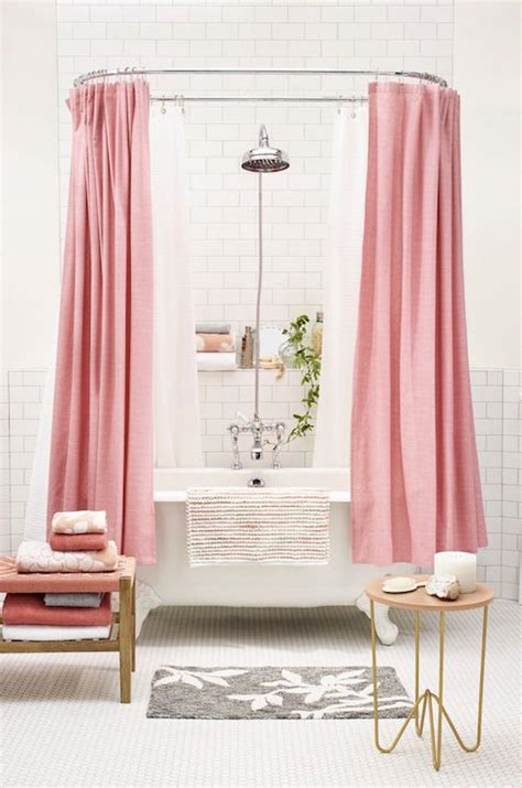 Matching Shower Curtain And Towels by Pink Shower Curtains Contemporary Bathroom Target