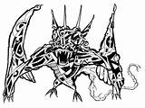 Wyvern Clip Coloring Illustrations Dragon Beast Scary sketch template