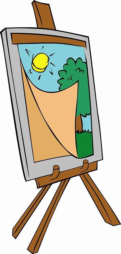 Easel Clipart Artist Transparent Painting Teacher Webstockreview