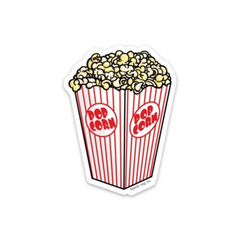popcorn sticker blank tag