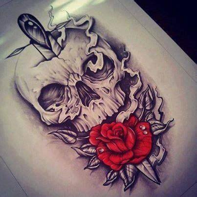 skull smoke knife rose skullz tattoos tattoo designs skull tattoos
