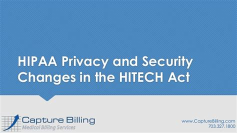 Hipaa Privacy And Security Changes In The Hitech Act
