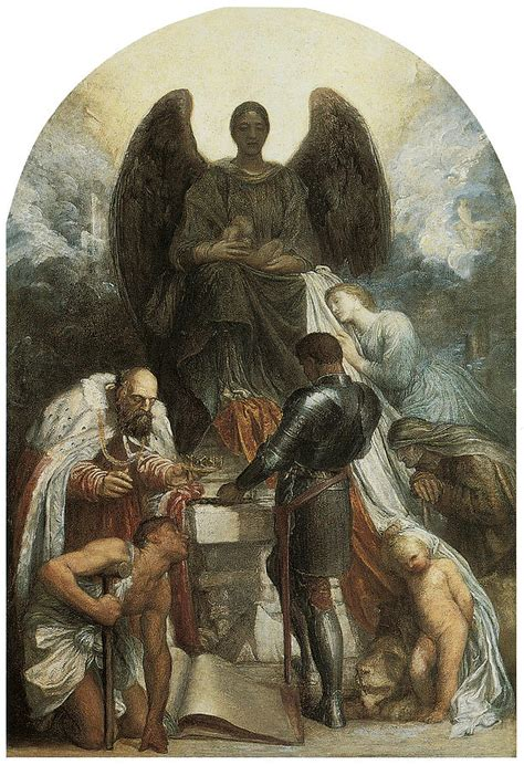 The Angel Of Death Painting By George Frederic Watts