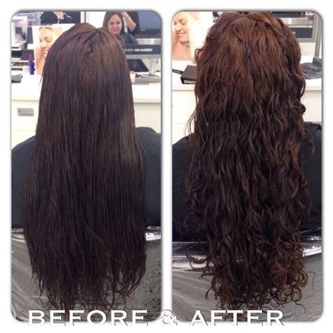 perm  long hair deciding      perm