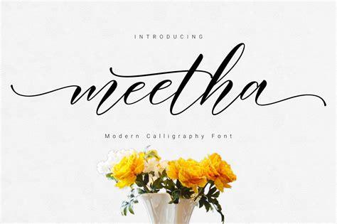 meetha script font befontscom