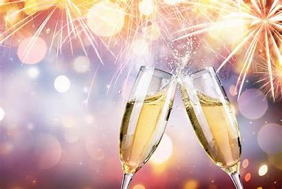 Champagne Celebration Fireworks Wallpapers Toast Celebrations Flutes