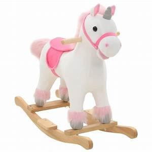 Licorne à Bascule : vidaxl licorne bascule peluche 65 x 32 x 58 cm blanc et rose jouets mixtes creavea ~ Teatrodelosmanantiales.com Idées de Décoration