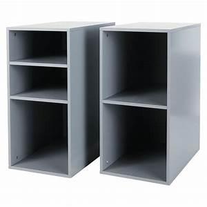 Caisson Bureau But : 2 caissons de bureau en bois gris h 73 cm desk maisons du monde ~ Teatrodelosmanantiales.com Idées de Décoration