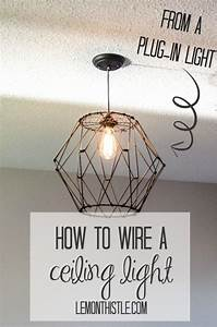 Diy Chandelier Wiring Diagram : how to wire a ceiling light fixture from a plug in light ~ A.2002-acura-tl-radio.info Haus und Dekorationen