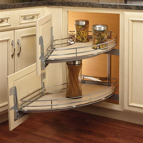How To Build A Corner Cabinet With Doors - how to make blind corner cabinet space more useful