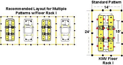 kmv fl  floor rack frame machine