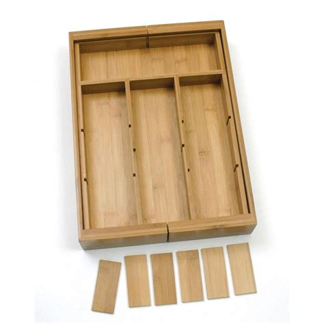 home depot kitchen drawer organizer lipper international 11 18 75 in bamboo expandable 7113