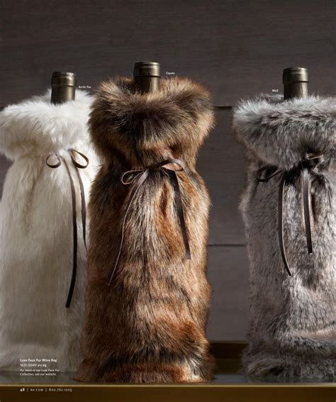 restoration hardware faux fur faux fur wine bottle packaging restoration 4791