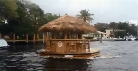 Tiki Hut Florida by Check Out This Tiki Hut Boat Seen Sailing In South