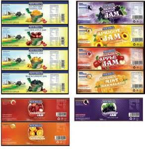Printable Miniature Food Labels