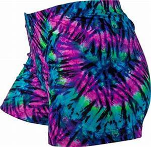 Gem Gear pression Neon Tie Dye Spandex Shorts