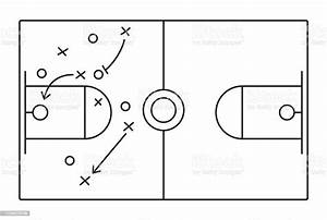 Basketball Play Diagram Stock Illustration
