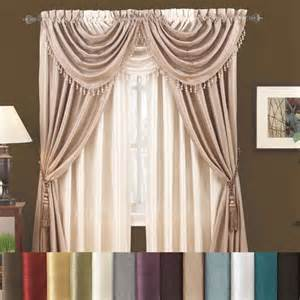 Annas Linens Curtains Drapes by Annabella Faux Silk Panel 0 00 Window Treatments