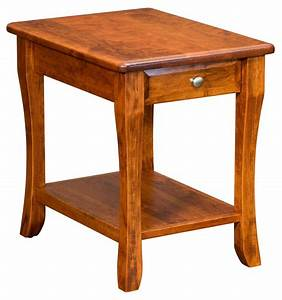 Berkley, End, Table, With, Drawer, From, Dutchcrafters, Amish, Furniture