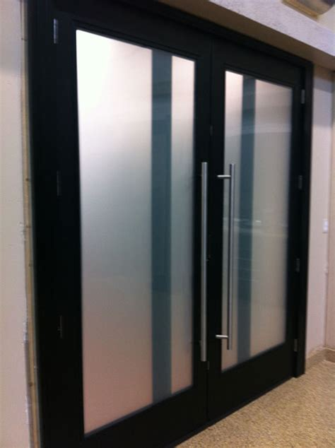 modern contemporary front entry fiberglass double doors