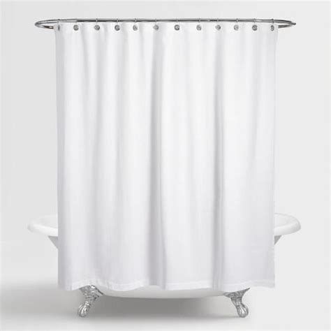 waffle weave shower curtain white cotton by world