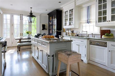 grey kitchen island  grey granite countertop cottage