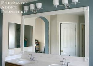 Pneumatic addict tip for adding trim to a wall mirror for Molding around mirror bathroom
