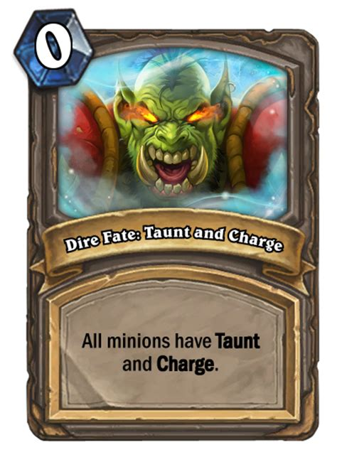 dire fate taunt and charge hearthstone card
