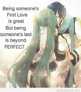Cartoon anime couple romantic quote 2015