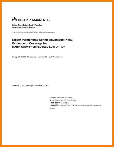 kaiser doctors note template good resume format