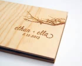guest book wedding wedding guest book album custom wood engagement by lorgie on etsy