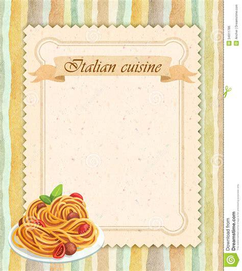 carte cuisine design de carte italien de menu de restaurant de cuisine