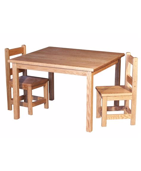 child s rectangle table with two chairs amish direct