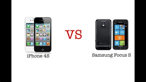 comparison iphone 4s vs samsung focus s