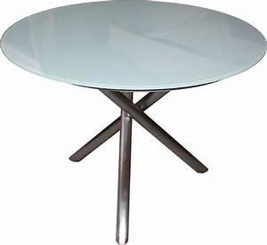 Tisch Rund Weiß : zebra tisch d110cm mikado edelstahl laminat esstisch art jardin ~ Markanthonyermac.com Haus und Dekorationen