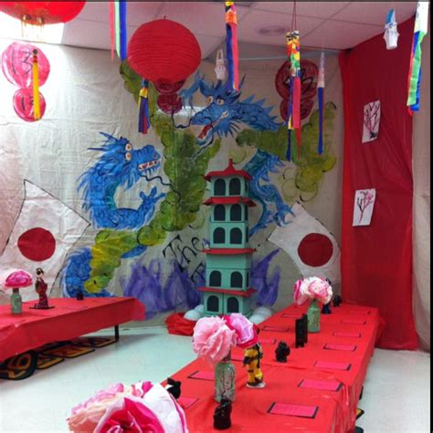 classroom decorated   students trip  japan