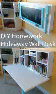 Murphy Bed Desk Ikea by Diy Kids Homework Hideaway Wall Desk The Organized Mom