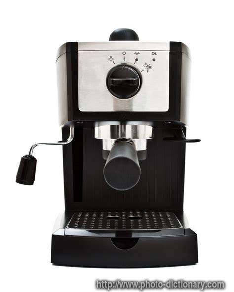 espresso machine photopicture definition  photo dictionary espresso machine word