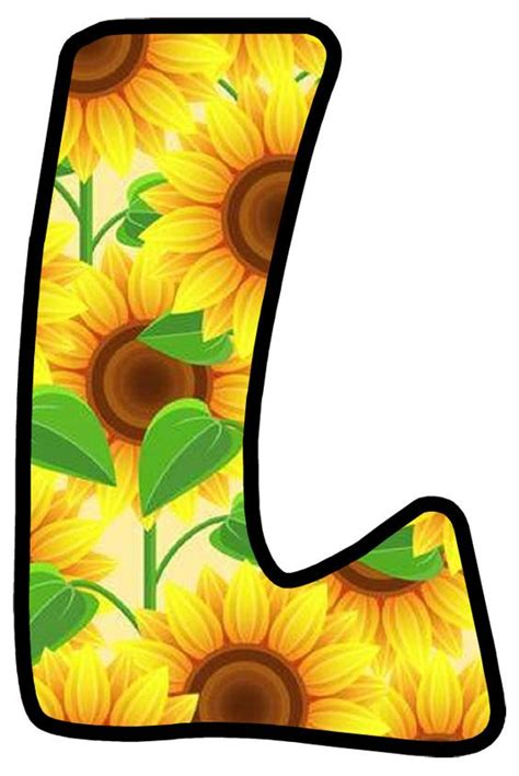 buchstabe letter  alphabet style fall scrapbook flower letters
