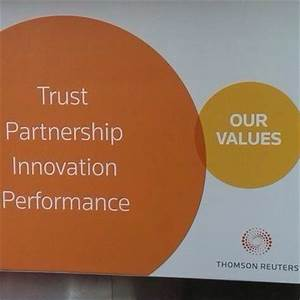 Thomson Reuters oops moment over its corporate values ...
