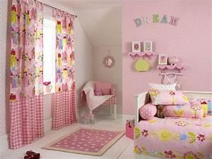 Gardinen Kinderzimmer Rosa : s es m dchenzimmer mit rosa gardinen mit naturmotiven m dchen zimmer kinder gardinen ~ Orissabook.com Haus und Dekorationen