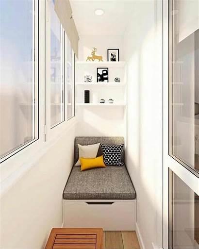 Balcony Interior Cozy Flat Sempit Stylish Elegant