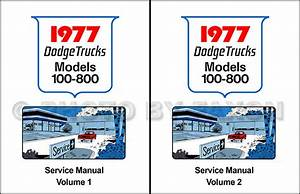 1977 Dodge Truck Shop Manual D100