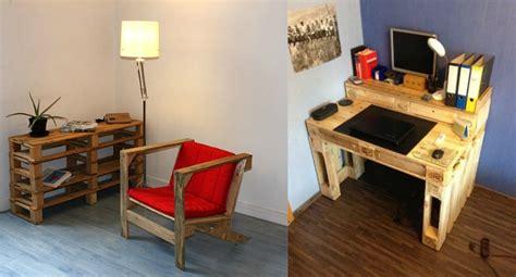 bureau en palette de bois fabriquer un bureau en palette dootdadoo com idées de
